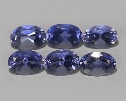 2.80 Cts_Shimmering_Oval Cut_Fine Violetish Blue_Sizzling_Iolite_NR!!