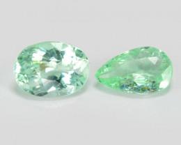Paraiba 0.49 Cts 2 Pcs Copper Bearing Natural Green Tourmaline