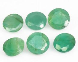 3.17 Cts 6 Pcs Natural Vivid Green Zambian Emerald Loose Gemstone