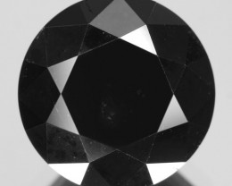 Diamond 2.42 Cts Amazing Rare Fancy Black Color Natural Loose