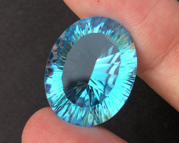 Amazing Laser Cut 31 Ct Natural Swiss Blue Color Topaz