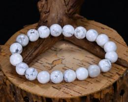 147.15Ct Natural Howlite Beads Bracelet B5079