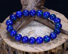 131.60Ct Natural Azurite Beads Bracelet B5089