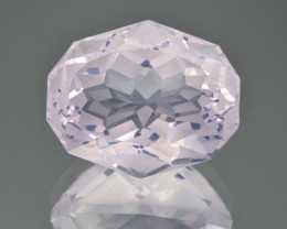 Natural Lavender Quartz 19.07 Cts Precision Cut Gemstone