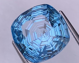 13.44 Cts Excellent Quality Master Cut Natural Blue Topaz