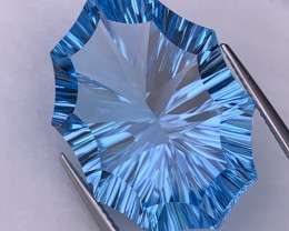 36.23 Cts Fancy Custom Cut Top Quality Natural Blue Topaz