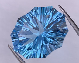 22.57 Cts Custom Fancy Cut Top Quality Natural Blue Topaz