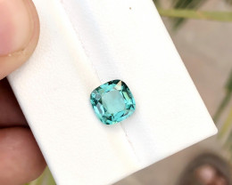 1.75 Ct Natural Blue Transparent Tourmaline TOP Quality Gemstone