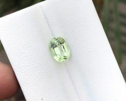1.60 Ct Natural Green Transparent Tourmaline Gemstone