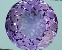 ~CUSTOM CUT~ 5.20Cts Natural Purple Amethyst Fancy Round Cut Bolivia