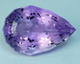 ~CUSTOM CUT~ 8.61Cts Natural Purple Amethyst Fancy Pear Cut Bolivia