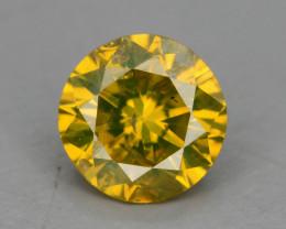 Yellow Diamond 0.60 ct Top Grade Brilliance SKU-25 tz