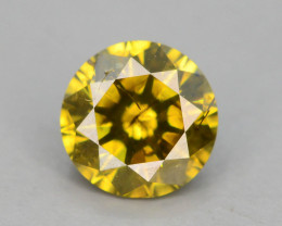 Yellow Diamond 0.45 ct Top Grade Brilliance SKU-25 tz