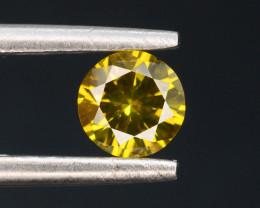 Yellow Diamond 0.35 ct Top Grade Brilliance SKU-25 tz