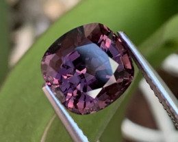 4.09 Cts AAA Grade Burma Top Quality Pinkish Purple Natural Spinel