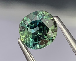 1.54 Cts AAA Quality Amazing Luster Natural Blue Green Parti Sapphire