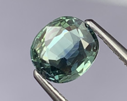1.45 Cts Fine Grade Rare Bi Color Blue/Green Lustrous Natural Sapphire