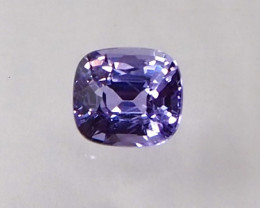 1.36ct clean unheated purple sapphire
