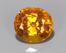 0.80CT~Excellent Natural Intense Beautiful Orange Yellow Sapphire Excellent