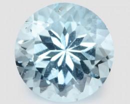 1.33 Cts Un Heated Blue Natural Aquamarine Loose Gemstone