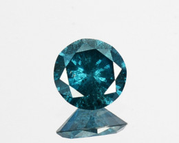 Fabulous!!!  0.23 Cts Natural Diamond Greenish Blue Round 4.10mm