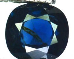~UNHEATED~ 0.90 Cts Natural Sapphire Deep Blue Cushion Madagascar