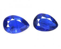1.69 Cts 2 Pcs Fancy Royal Blue Color Natural Kyanite Gemstones