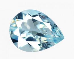 1.26 Cts UnHeated Blue Natural Aquamarine Loose Gemstone