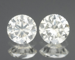 Diamond 0.34 Cts 2 Pcs Untreated Fancy Grayish White Color Natural Loose