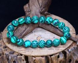 114.65Ct Natural Malachite Beads Bracelet B5218