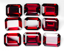 *NoReserve*Rhodolite Garnet 24.53 Cts 9 Pcs Unheated AA Natural Cherry Pink