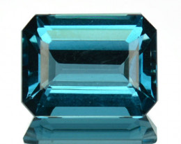 ~EMERALD CUT~ 4.35 Cts Beautiful Natural London Blue Topaz Brazil