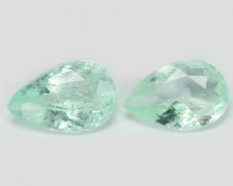 Paraiba Tourmaline 0.48 Cts 2 Pcs Natural Blue Green Copper Bearing pair