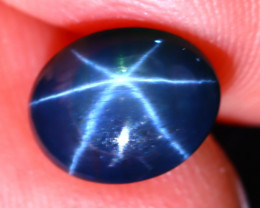 Star Sapphire 2.82Ct Natural 6 Rays Blue Star Sapphire EF1101/A39