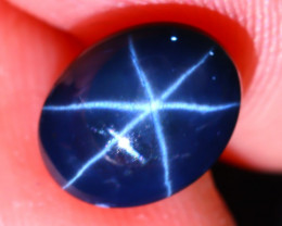 Star Sapphire 3.41Ct Natural 6 Rays Blue Star Sapphire EF1102/A39
