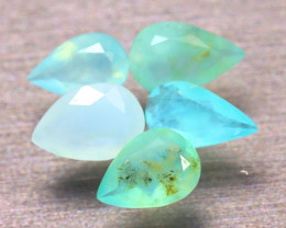 Paraiba Opal 3.74Ct 5Pcs Natural Peruvian Paraiba Color Opal EF1111/A2