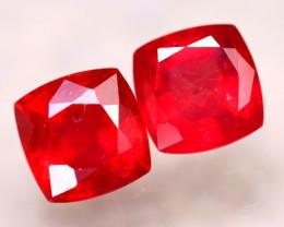 Ruby 4.75Ct 2Pcs Madagascar Blood Red Ruby EF1113/A20