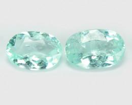 Paraiba Tourmaline 0.63Cts 2Pcs Natural Blue Green CopperBearing