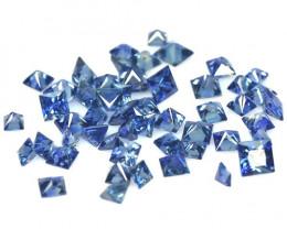 7.79 Cts 52 Pcs Amazing Rare Natural Fancy Blue Sapphire Loose Gemstone