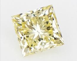 0.19 cts , Princess Brilliant Cut Diamond , Light Colored Diamond