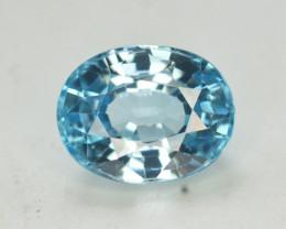 3.60 Ct Gorgeous Color Natural Vibrant Blue Zircon