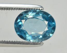 2.45 Ct Gorgeous Color Natural Vibrant Blue Zircon