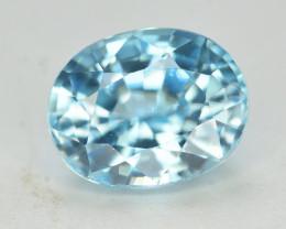 3.10 Ct Gorgeous Color Natural Vibrant Blue Zircon