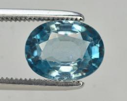 2.85 Ct Gorgeous Color Natural Vibrant Blue Zircon
