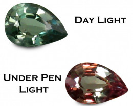 Alexandrite 0.36 Cts Green To Red Step cut BGC724