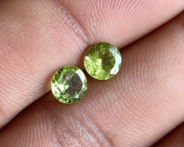 Natural Peridot Gemstone Pair 100% Genuine VA2000