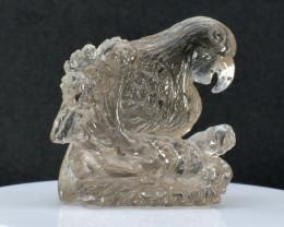 83.07ct  Patriotic Eagle  - Hand Carved Quartz Gemstone Sculpture