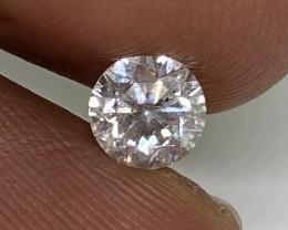 (6) Cert $1125 Brilliant 0.62cts SI2 Nat White Round Loose Diamond
