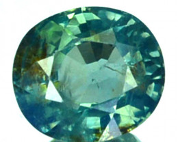 ~UNHEATED~ 0.95 Cts Natural Bluish Green Sapphire Oval Madagascar