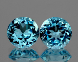 8.00 mm Round 2 pcs 4.70cts Sky Blue Topaz [VVS]